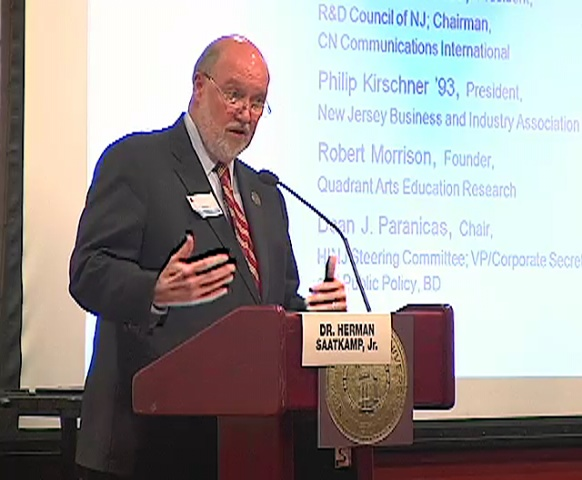 Dr. Herman Saatkamp, president of Richard Stockton State College of New Jersey