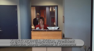 Chamber President Kristi Howell-Ikeda introduces the economic outlook panel