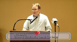 Ted Mann speaking at Jewish Community Voice annual meeting June 1