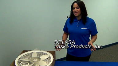 Delysa of Lasko explains how to assemble a pedestal fan