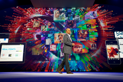 Adobe president and chief executive officer Shantanu Narayen kicks off Adobe MAX,