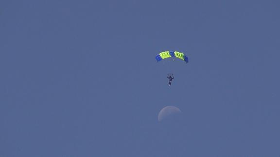 SkydiverAndMoon