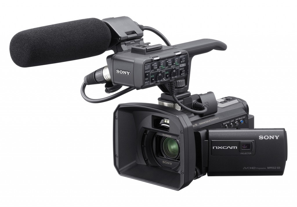 The Sony HXR-NX70U high-definition camera. Professional Podcasts has acquired two of these cameras for enhanced quality productions for its clients.