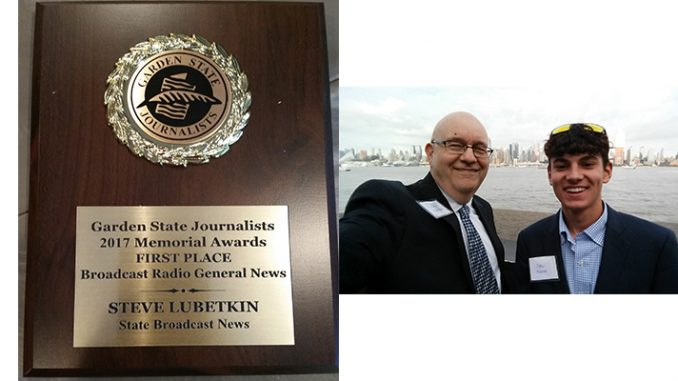 SBN News Director and LMC Managing Partner Steve Lubetkin earned a first place award in broadcast radio for his news interview with three former NJ governors, while sharing a third place in the Broadcast TV/Online General News category with Medford student Jake Kozmor, who has been interning with the firm.
