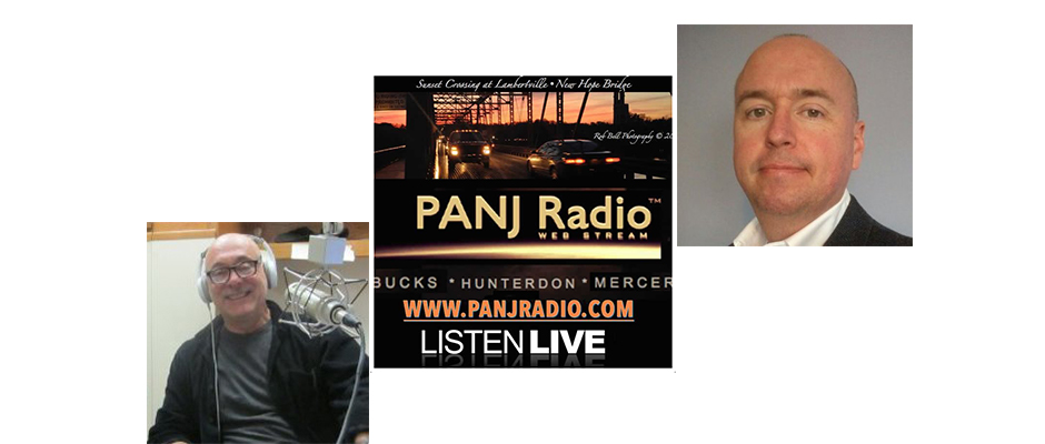 "Steve appeared on the August 29, 2017 episode of ""In the Green Room,"" on PANJRadio.com, with hosts Vinny Verderosa, left, and Rodney Warner"
