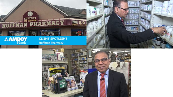 Hoffman Pharmacy, Route 35, Laurence Harbor, NJ, and its proprietor, Raj Desai, are featured in the latest Lubetkin Media Companies documentary for Amboy Bank, Old Bridge, NJ