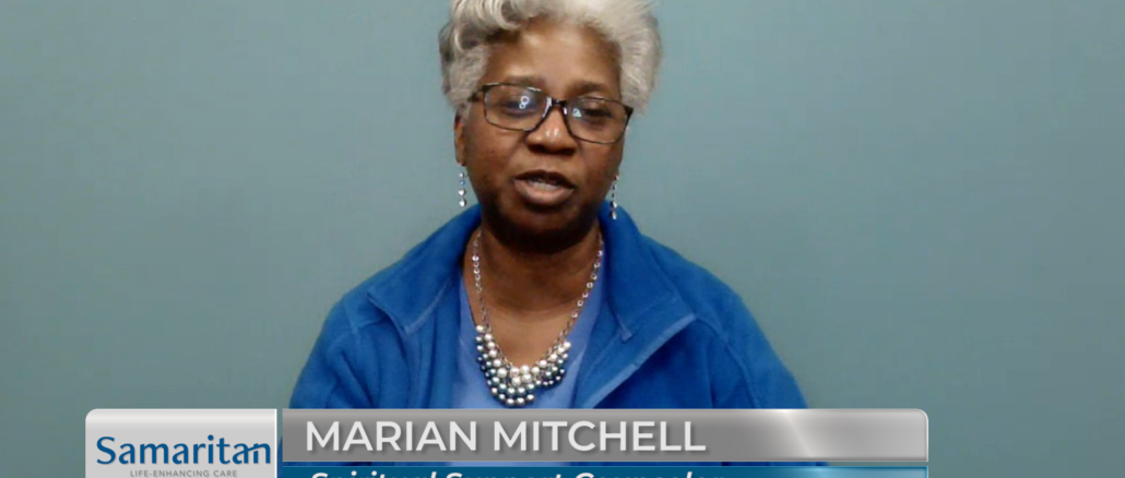 Marian Mitchell, a spiritual support counselor at Samaritan Life-Enhancing Care, was one of two employee hosts for the healthcare group's first-ever virtual gala, produced with live and tape segments for broadcast Feb. 6 by The Lubetkin Media Companies